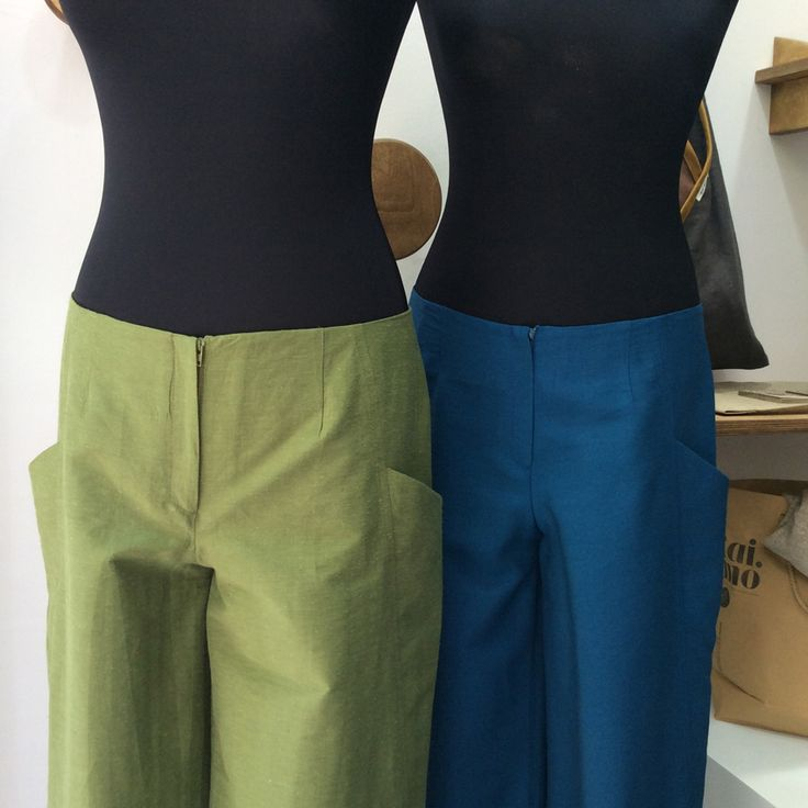 colorful zip culottes of a nice grosgrain quality fabric