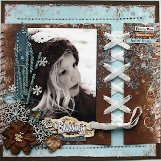 Published in CMF #51 @Petaloo International International @Bo Bunny scrapbook page layout
