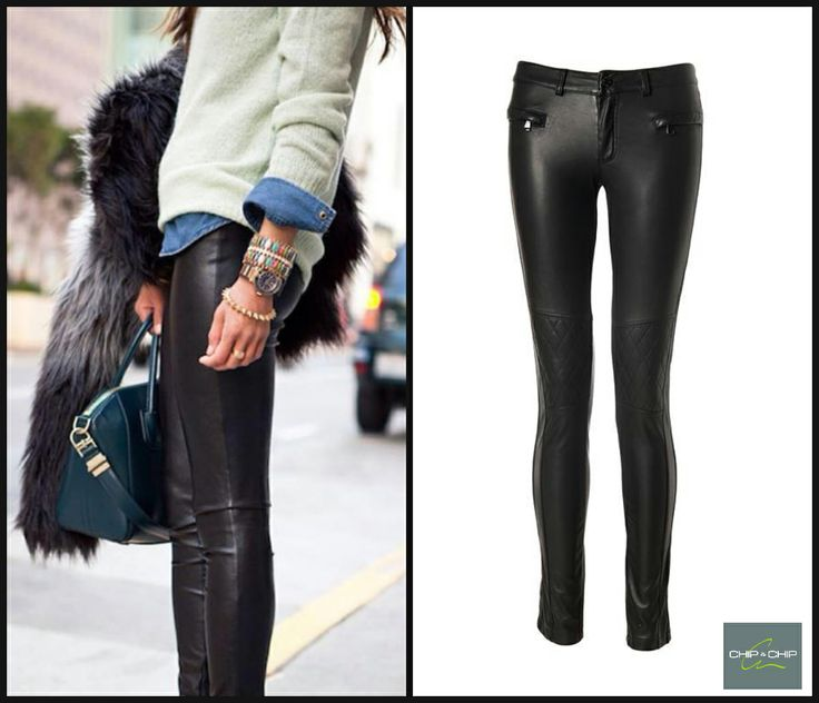 Chip&Chip leather pants