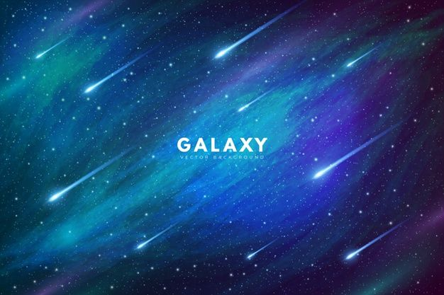 Download Mysterious Galaxy Background With Shooting Stars For Free Galaxy Background Vector Free Galaxy