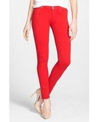 Hudson Red Skinny Jeans for Women   Lookastic for Women