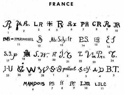 A guide to the Sevres Marks including the Double L and Double C marks