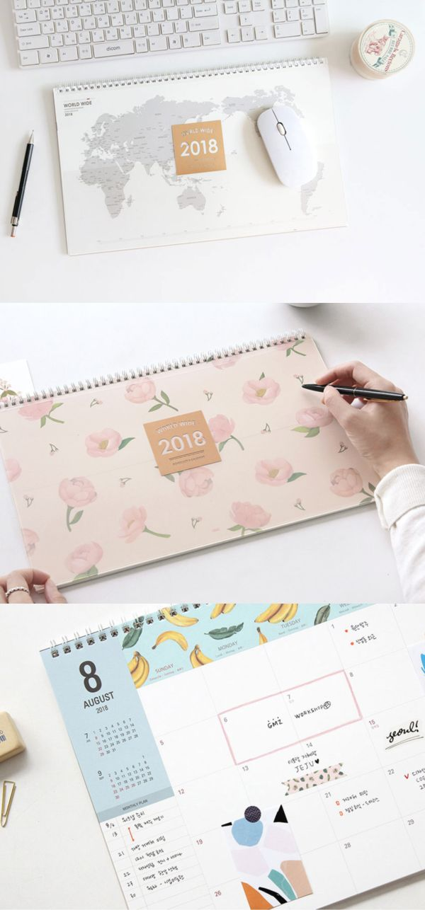 The 2018 Large Worldwide Desk Scheduler will stay on my desk throughout 2018! It will work as a useful scheduler, a grid notebook, a document holder, a mousepad and a lovely decoration that brighten up my place!