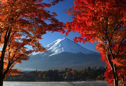 Mount Fuji In Autumn Japan Hong Kong And Taiwan
