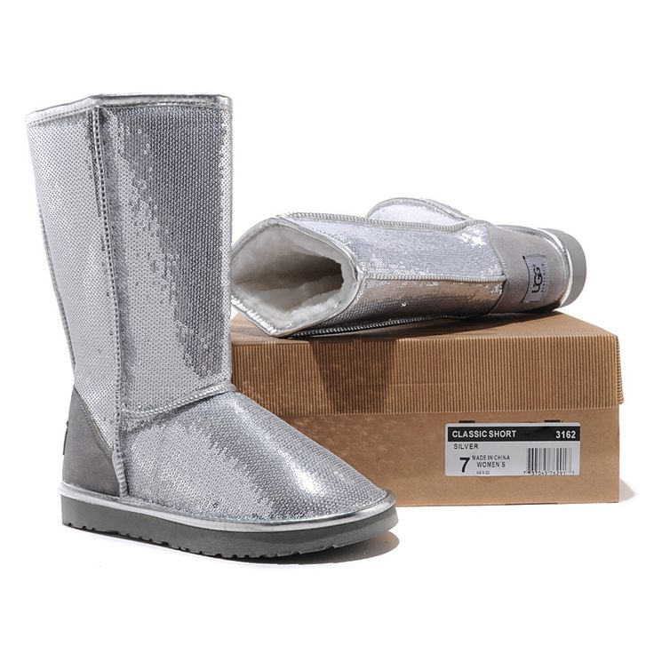 Silver Sequins tall UGG Boots
