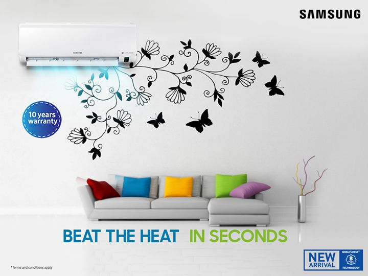 It's time to beat the heat in seconds! Samsung Bangladesh brings you the world's first AC with 8-pole digital inverter compressor. Price starts from ৳76,900. You can also win up to ৳20,000/- cash back on bundle offer. Hurry up!