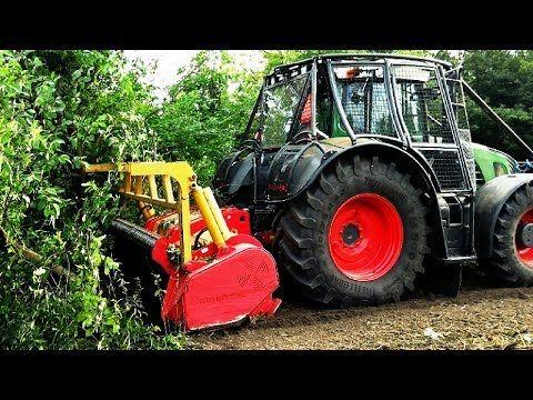 TREE FELLING - FENDT 939 VARIO & FORESTY MULCHER SEPPI M