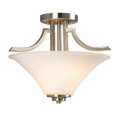 Galaxy Lighting 610756 2 Light Franklin Semi Flush Ceiling Light
