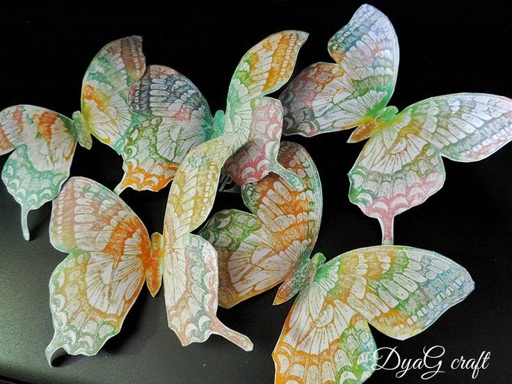 Handmade Atelier: Decoratiuni handmade fluturi uriasi