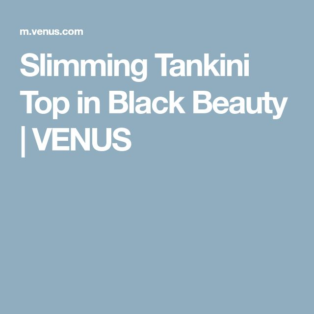 Slimming Tankini Top in Black Beauty | VENUS