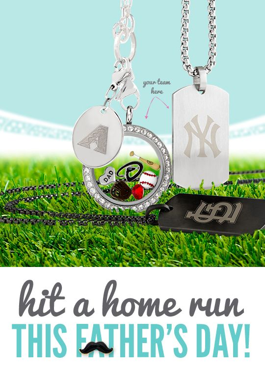 Origami Owl Father's Day Gifts   #origamiowl #fathersday #baseball #mlb