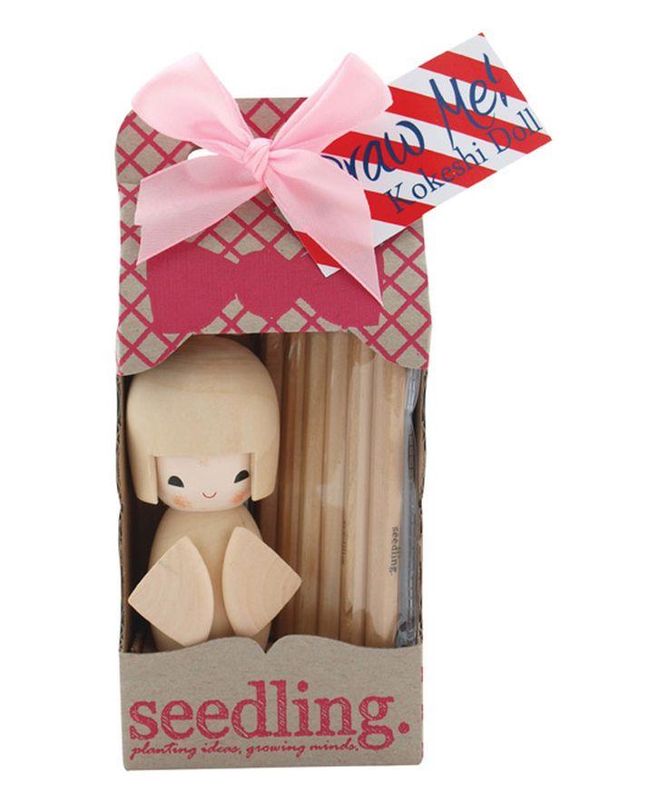 Draw Me Kokeshi Doll Kit by Seedling #zulily #zulilyfinds