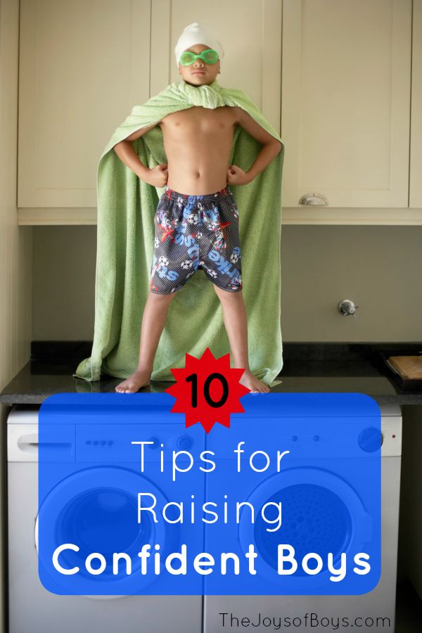 10 Tips for Raising Confident Boys. These tips will our boys live confidently as they grow into men.