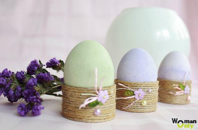 Пасхальные поделки - подставки для яиц весенние