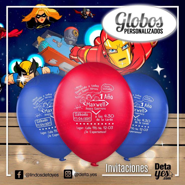 Novedosas Invitaciones con Globos  para Cumpleaños, somos @deta_yes , Envíos a Toda Colombia, Pedidos 3185657519