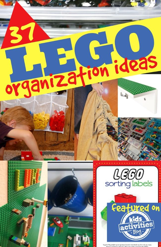 37 LEGO Organization Ideas - I only really need one or two - but I will take them all!!
