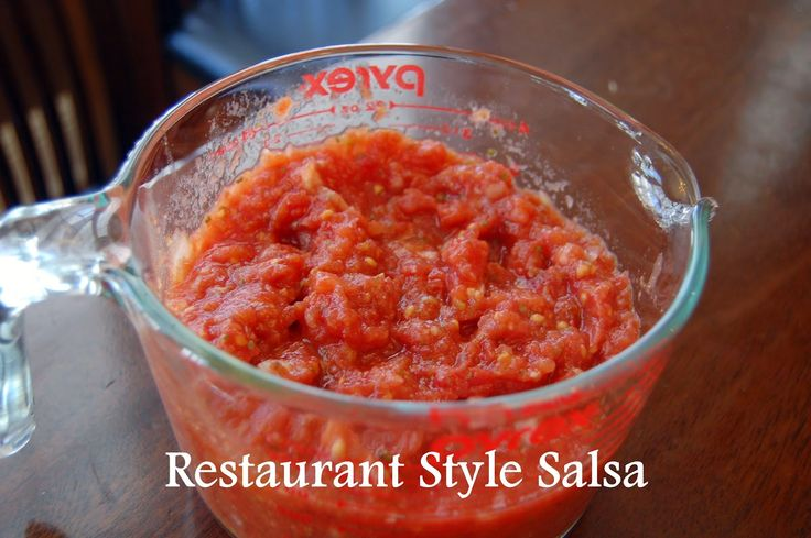 Restaurant style salsa -only takes minutes to make this delicious salsa!