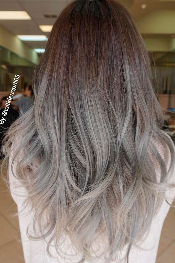 grey ombre hair season