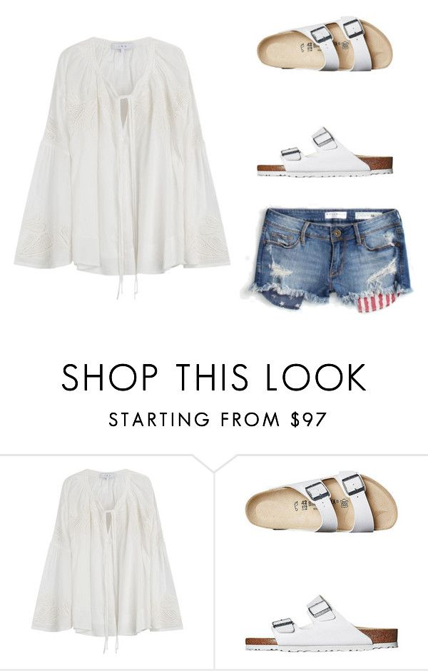 """""""Going to the beach!"""" by emmavestphael on Polyvore featuring IRO and Birkenstock"""