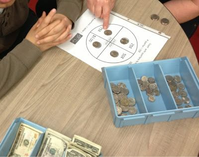 Counting Quarters Visual special education
