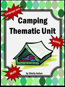 """This is a wonderful 50 page camping thematic unit based on the Common Core essential skills. The unit begins with an original camping story sung to the tune, """"Farmer in the Dell."""" Your students will love this great start to a fun unit!"""