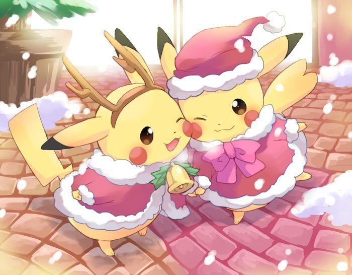 Pixiv Id 1183761, Pokémon, Pikachu, Christmas Outfit, Bell, Christmas