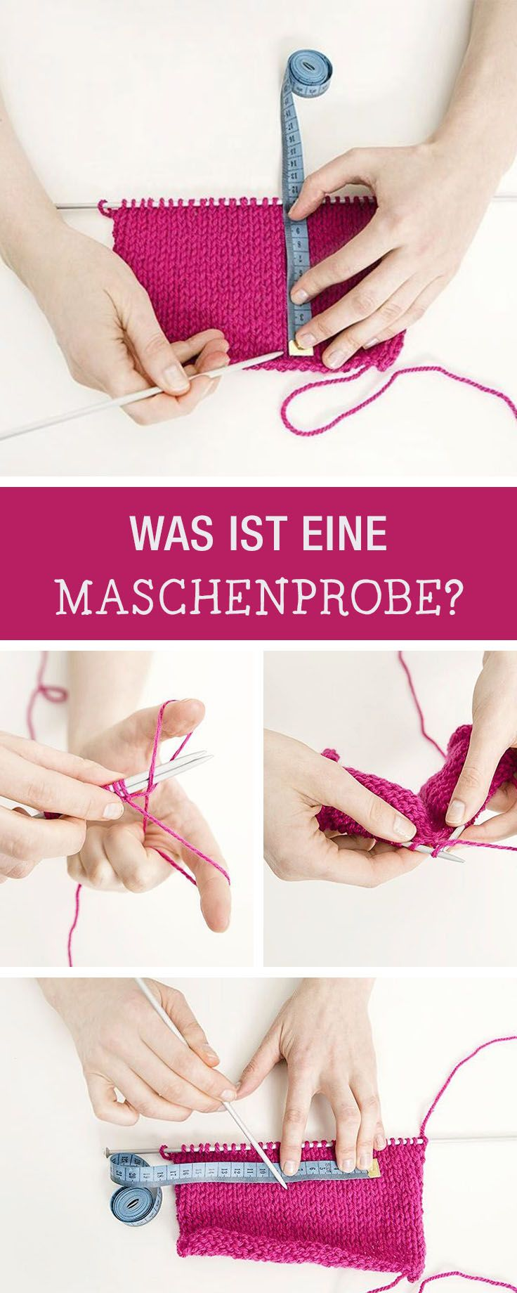 Tipps fürs Stricken: Was ist eigentlich eine Maschenprobe und wie geht sie / tips for knitting: everything you should know about a stitch test via DaWanda.com