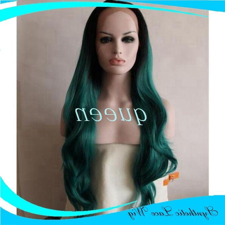 38.54$  Buy here - https://alitems.com/g/1e8d114494b01f4c715516525dc3e8/?i=5&ulp=https%3A%2F%2Fwww.aliexpress.com%2Fitem%2Fperuca-sintetica-Ombre-Wigs-Green-Long-Synthetic-Lace-Front-Wig-Glueless-TwoTone-Black-Dark-Blue-Heat%2F32706323460.html - peruca sintetica Ombre Wigs Green Long Synthetic Lace Front Wig Glueless TwoTone Black/Dark Blue Heat Resistant Hair Women Wigs 38.54$