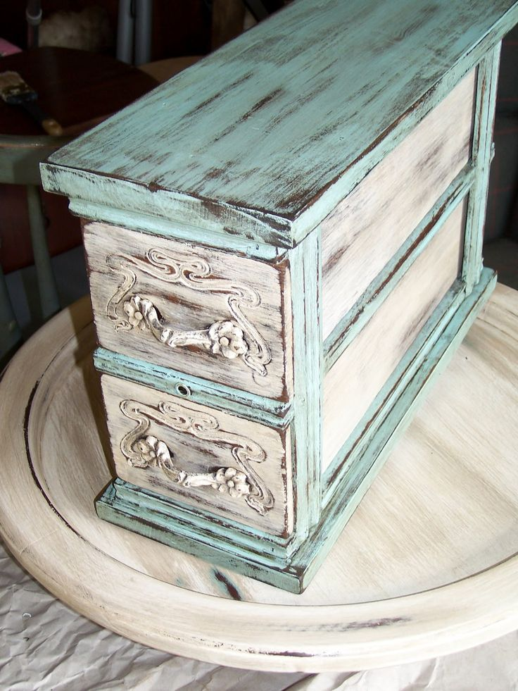 shabby chic antique sewing drawers - Google Search