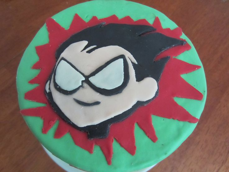 - Robin from Teen Titans Go!   MMF decorations, dark chocolate cake with oreo SMBC