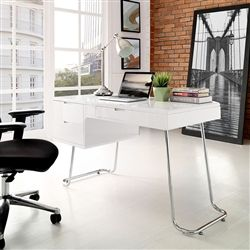 Contemporary Home Office Interior With White Writing Desk Just 31699