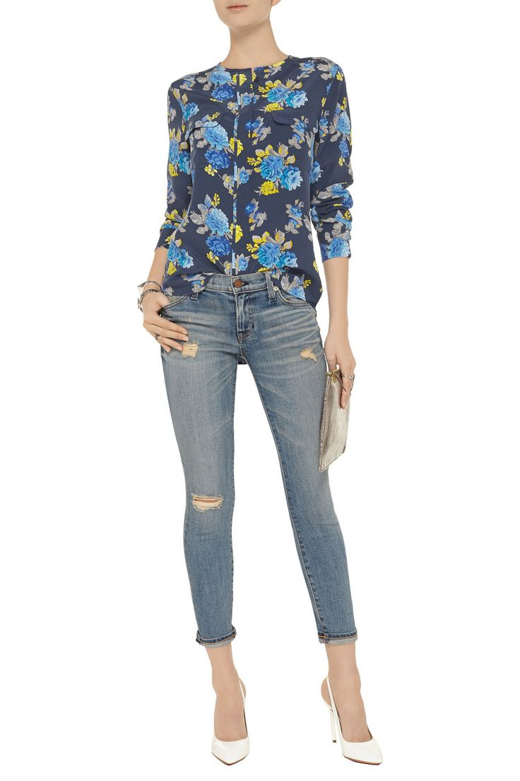 EquipmentLynn floral-print washed-silk shirtfront