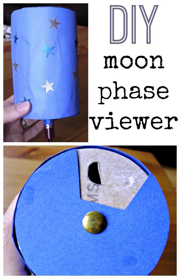 This DIY moon phase viewer is a fun way to learn about the moon with kids.