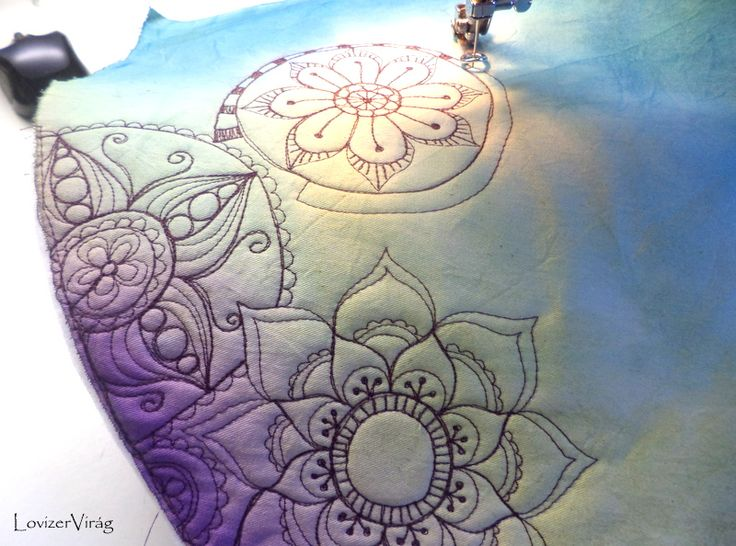 Drawing thread, freeform embroidering, mandalas by ZerVir
