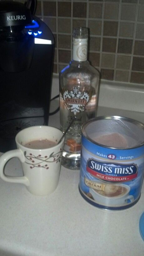 Kissed Carmel Vodka & Hot Chocolate.