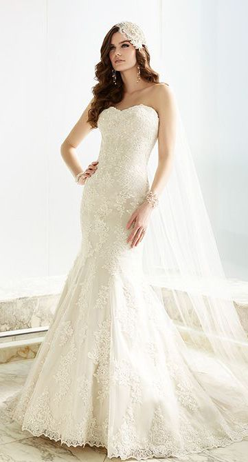 Gorgeous fit-and-flare designer wedding dress