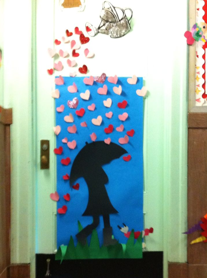 Valentines day classroom door ps176 kinder pinterest for Decoracion de puertas de san valentin