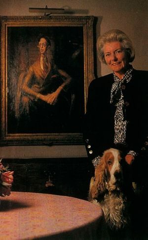 "Lady Pagan and the restored portrait: ""Maybe it's a hybrid, but to me it is the Dobell."""