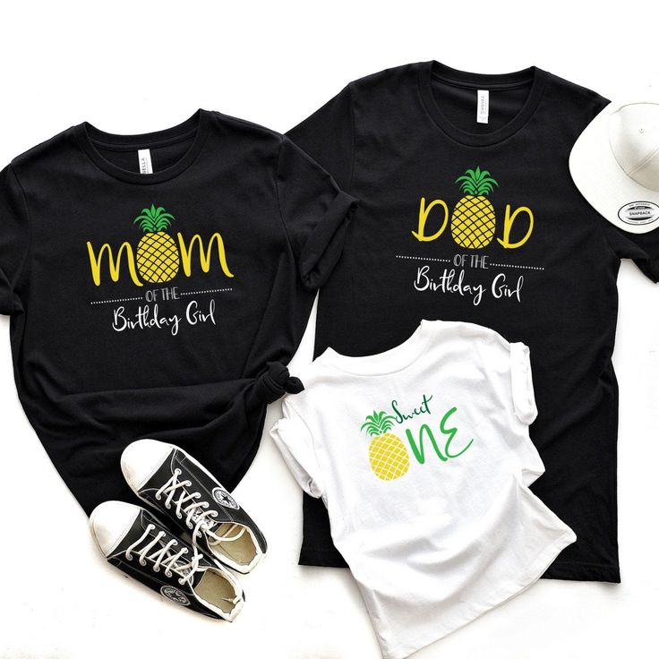 Family pineapple kids birthday party tshirts / Matching