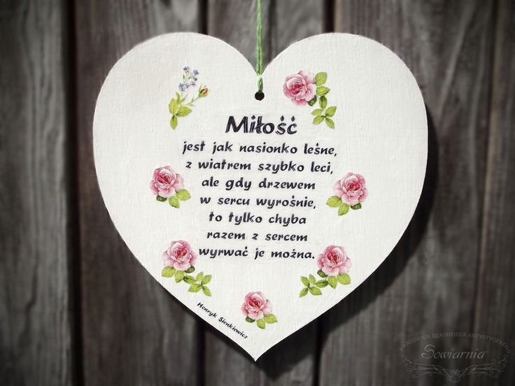 White heart with roses and love-related quote :)