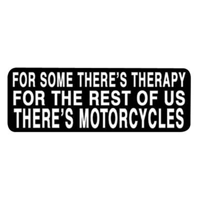 Hot Leathers Helmet Sticker - For Some Theres Therapy For The Rest Of Us Theres Motorcycles | Cruiser | Jake Wilson