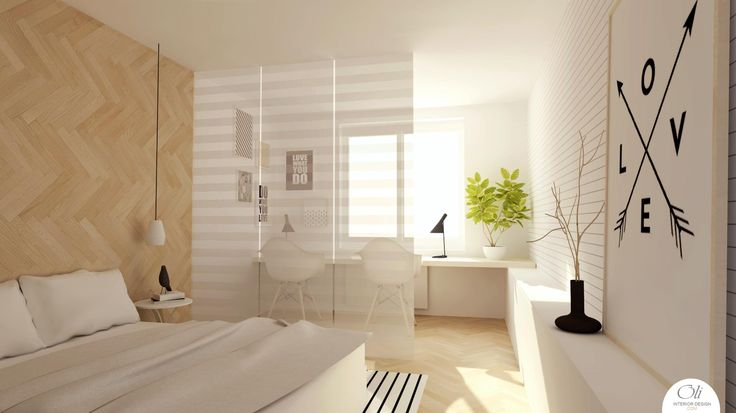 Version 2 #Bedroom #Renovation - 3D Visualization - by Oli Interior Design Studio #modern #monochromatic #scandinavian #interiordesigner #edesign #onlineservice