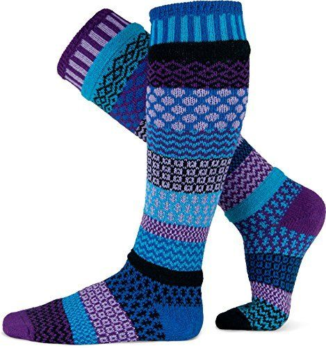 Solmate Socks - Odd or Mismatched Knee Socks for Women or for Men, Made with Recycled Cotton Yarns in USA Life's too short for matching socks! Our whimsical, odd socks are the perfect combination of comfort and fun! Made in the USA, Solmate Socks' unique styles and patterns are the perfect way to bring some cheer into your life.   Comfort and fun, at the tips of your toes!  Our wildly popular knee high socks have so much zest and flare – they're the p