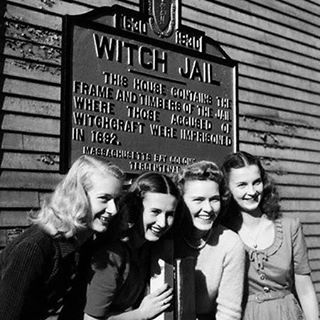 """247 Likes, 3 Comments - SABAT MAGAZINE (@sabatmagazine) on Instagram: """"Girls posing in front of the house where those accused of witchcraft were imprisoned in 1692.…"""""""