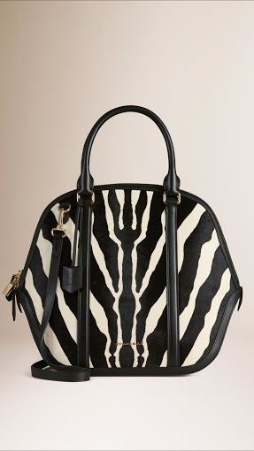 Burberry - Large Orchard in Graphic Print Calfskin in Black