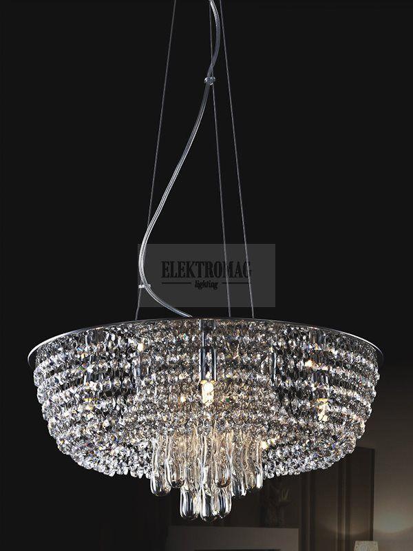 #ITALUX #LAMPA WISZĄCA GRANZO P0234-05S-F4AC : Lampy wiszące z kryształami : #Sklep_internetowy #Elektromag