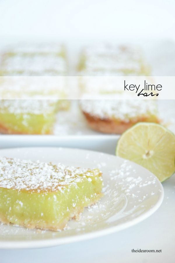 Whip up these Key Lime Bars for your family dessert tonight! Easy to make and delicious, they are sure to be a new family favorite!