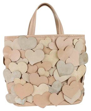 Marc Jacobs Love Story Tan, Pink, Nude Tote Bag $295