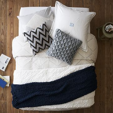 Layered Bed Looks - Calm + Collected #WestElm: Calm, Bedrooms Colors Schemes, White Beds, Layered Beds, Master Bedrooms, Collection, Design Labs, West Elm, Beds Ideas