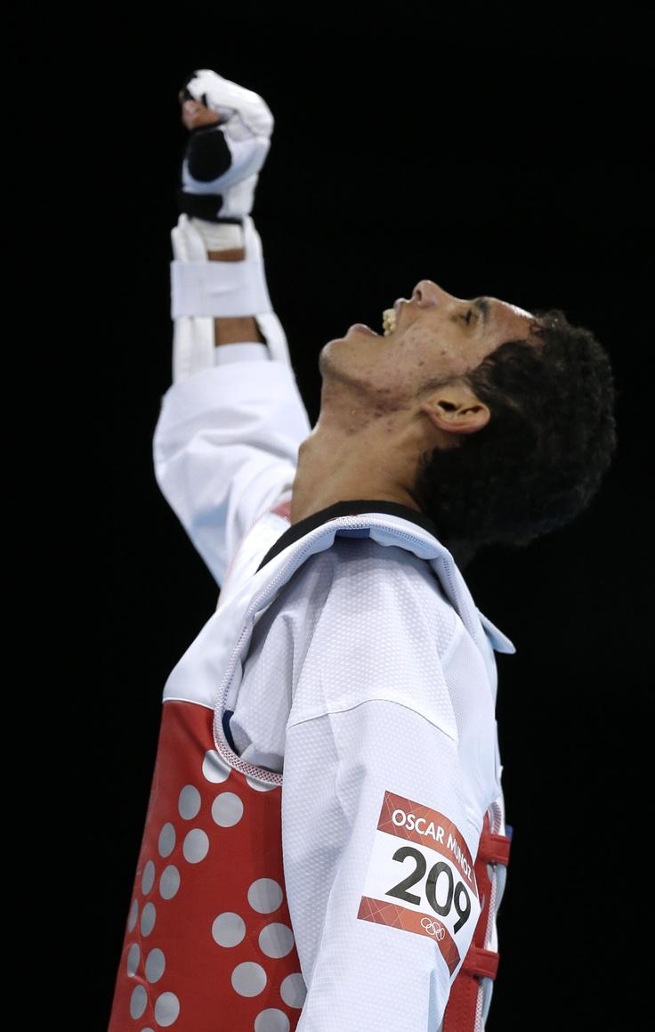 Oscar Muñoz, medalla de bronce en Taekwondo.